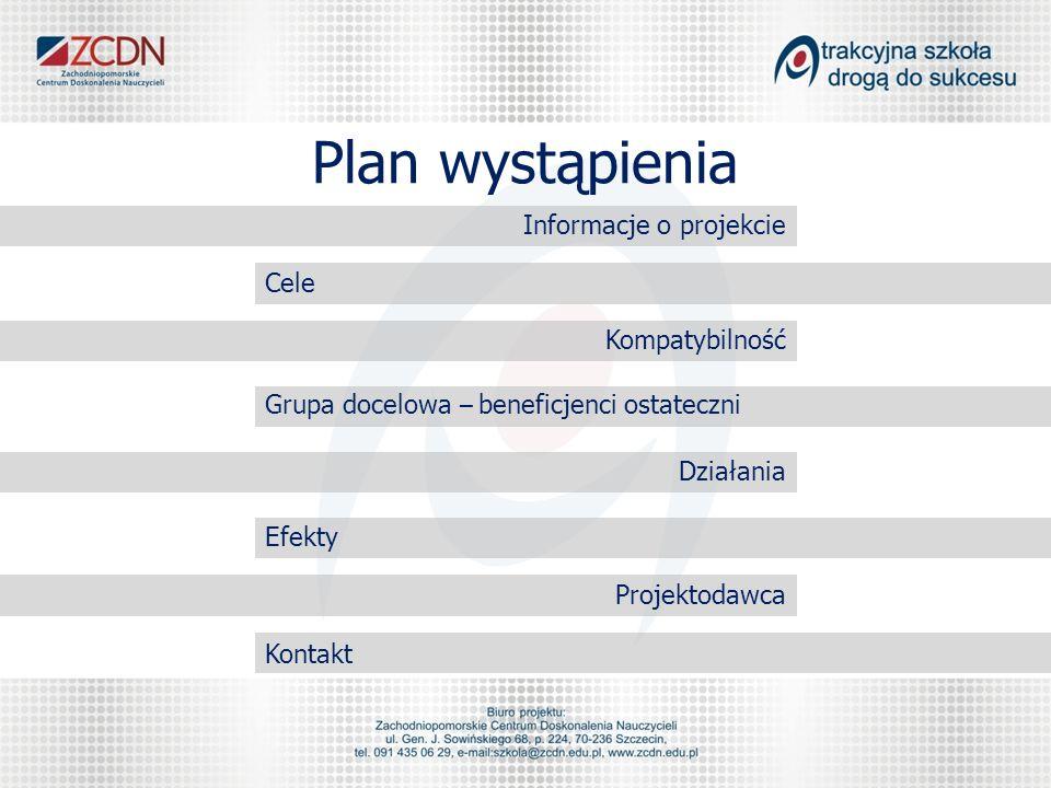 Plan wystąpienia Informacje o projekcie Cele Kompatybilność