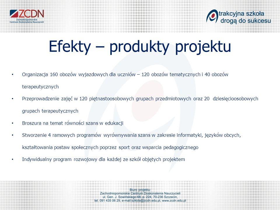 Efekty – produkty projektu