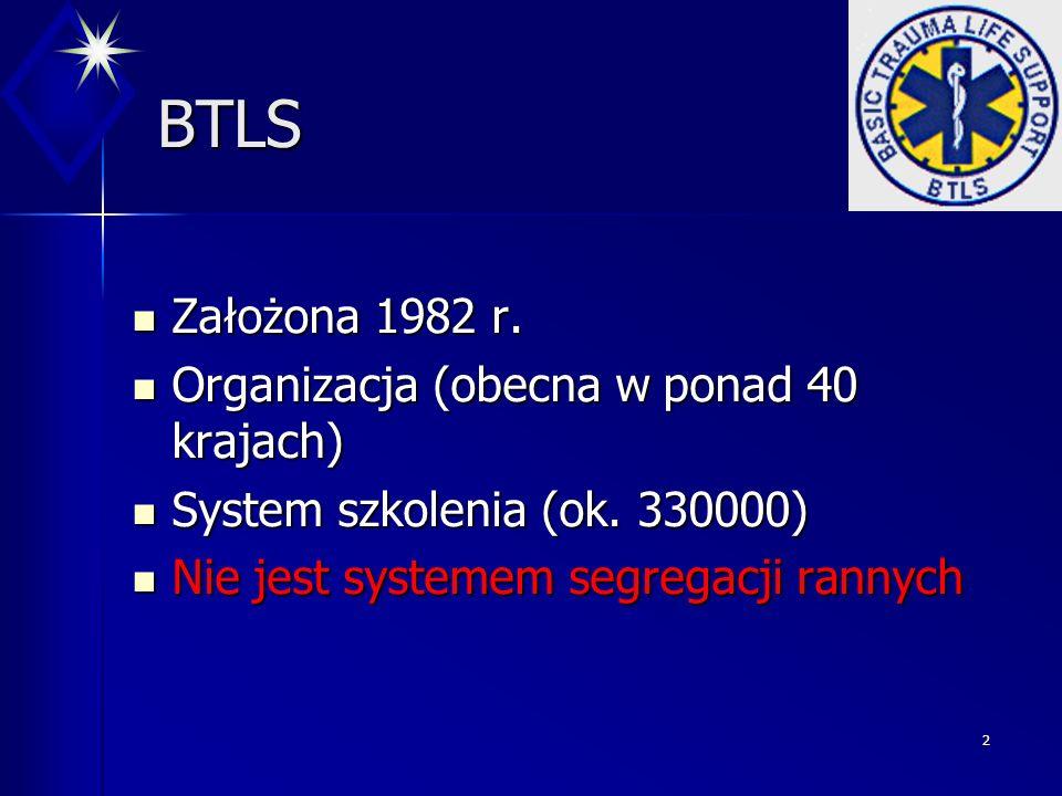 BTLS Założona 1982 r. Organizacja (obecna w ponad 40 krajach)