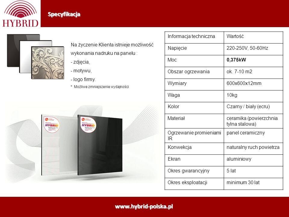 Specyfikacja www.hybrid-polska.pl Informacja techniczna Wartość