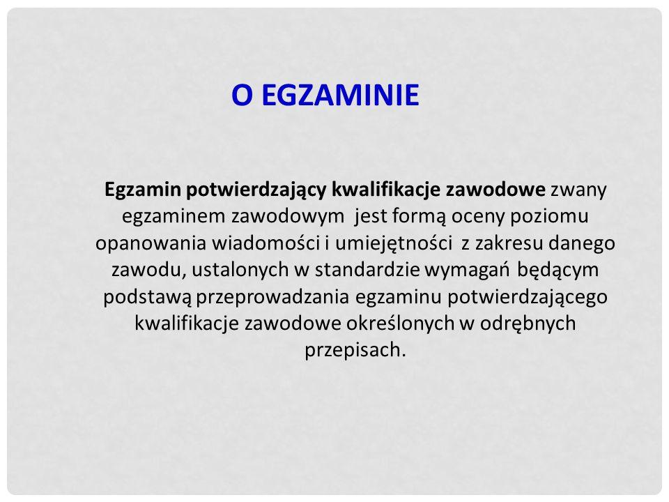 O EGZAMINIE