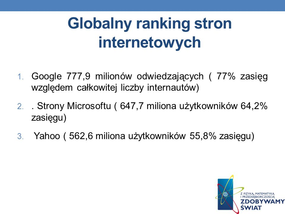Globalny ranking stron internetowych
