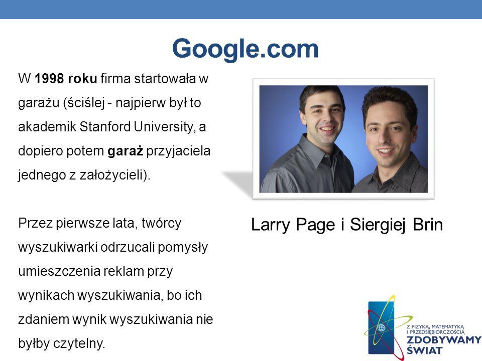 Larry Page i Siergiej Brin