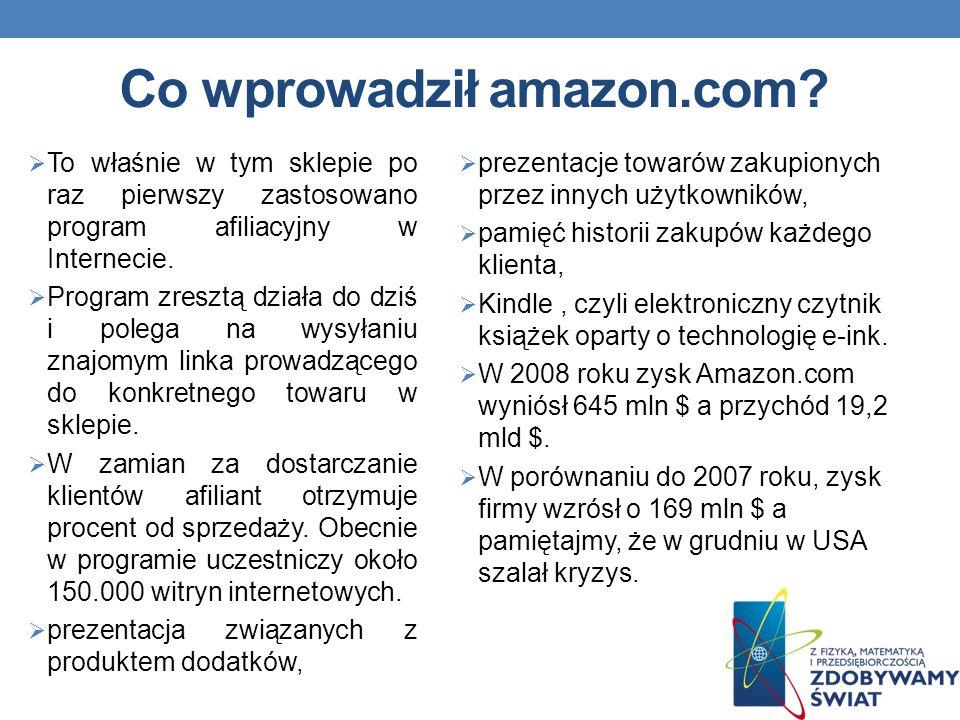 Co wprowadził amazon.com