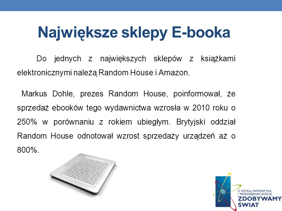 Największe sklepy E-booka