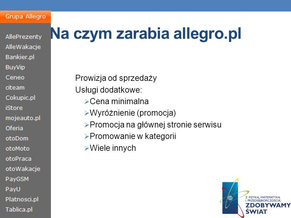 Na czym zarabia allegro.pl