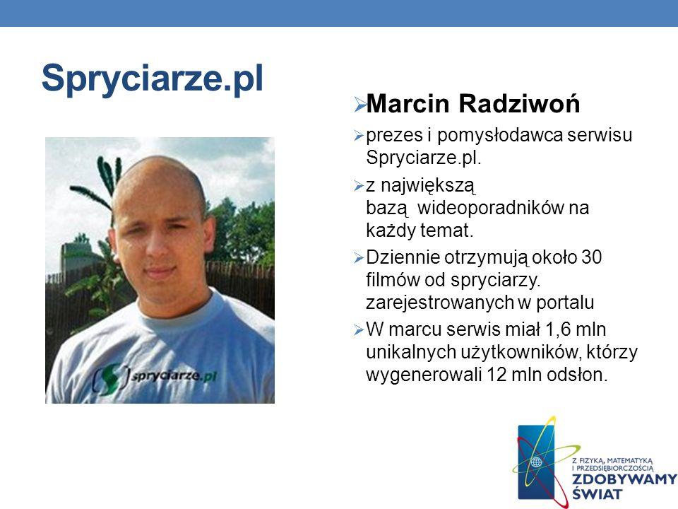 Spryciarze.pl Marcin Radziwoń