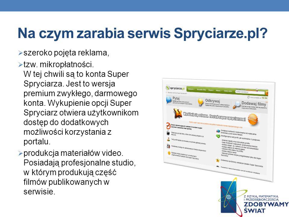 Na czym zarabia serwis Spryciarze.pl