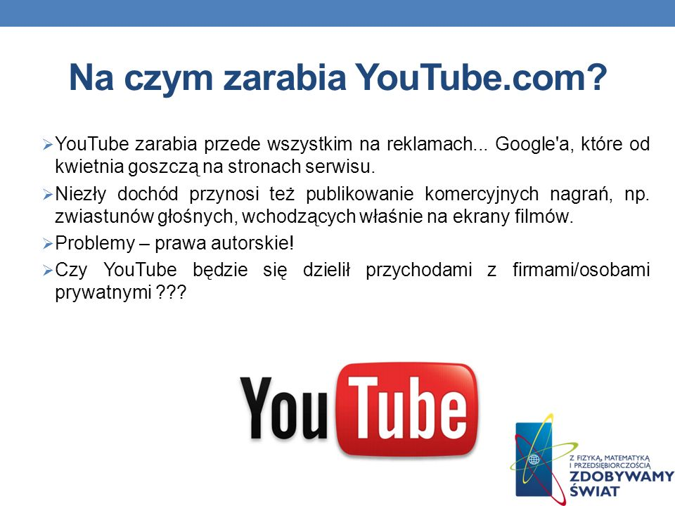 Na czym zarabia YouTube.com