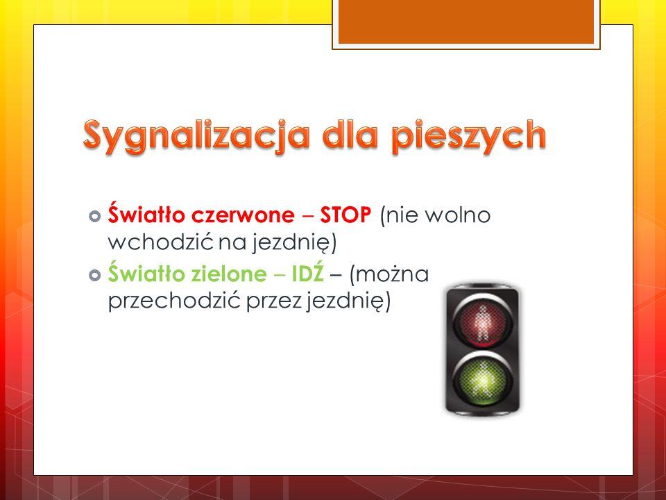 Sygnalizacja dla pieszych