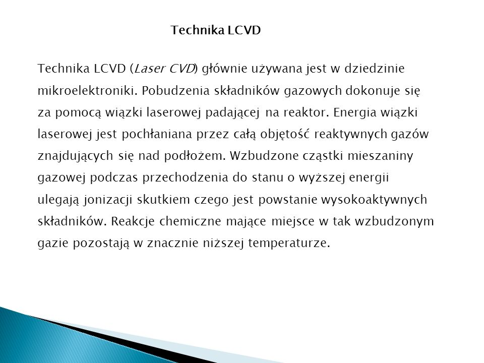 Technika LCVD