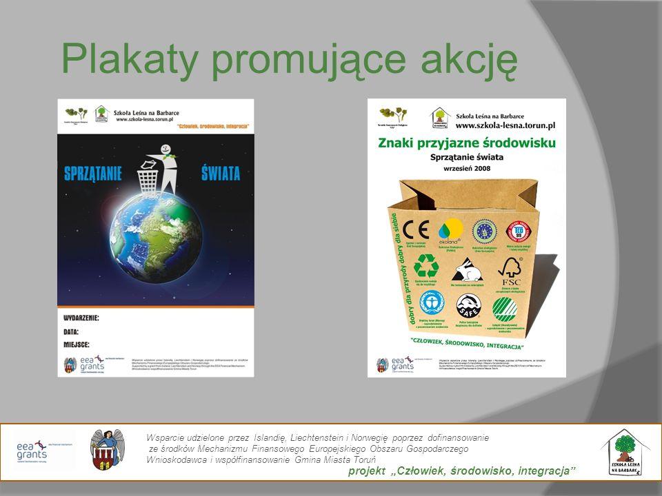 Plakaty promujące akcję