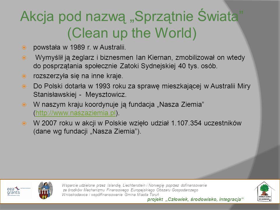 """Akcja pod nazwą """"Sprzątnie Świata (Clean up the World)"""