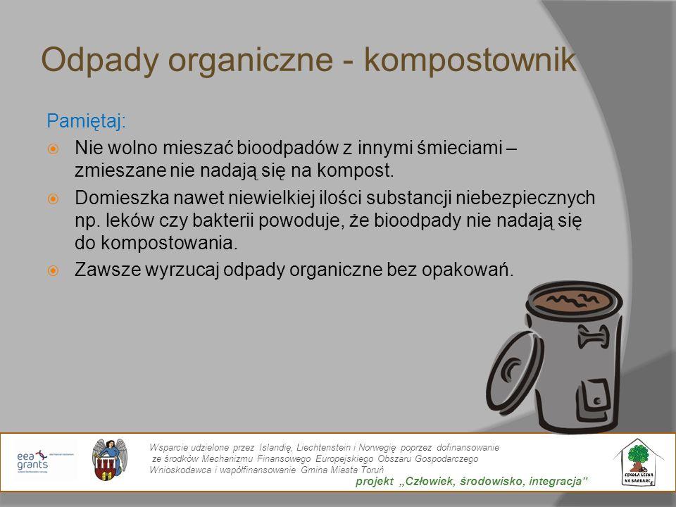 Odpady organiczne - kompostownik