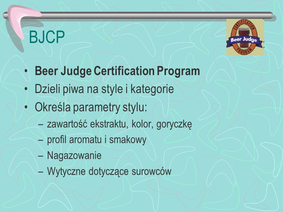 BJCP Beer Judge Certification Program Dzieli piwa na style i kategorie