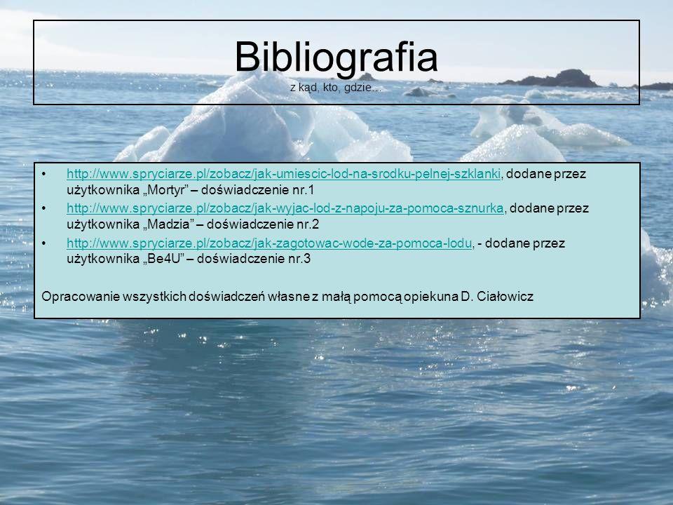 Bibliografia z kąd, kto, gdzie…