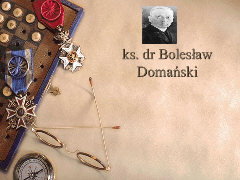 ks. dr Bolesław Domański