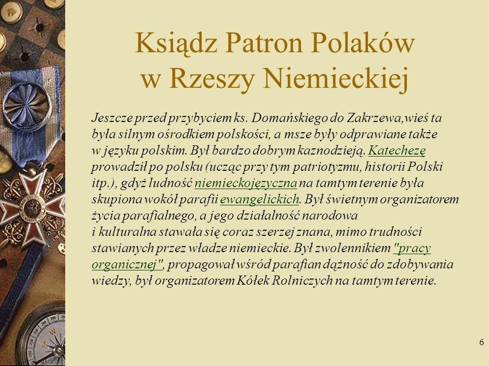 Ksiądz Patron Polaków w Rzeszy Niemieckiej