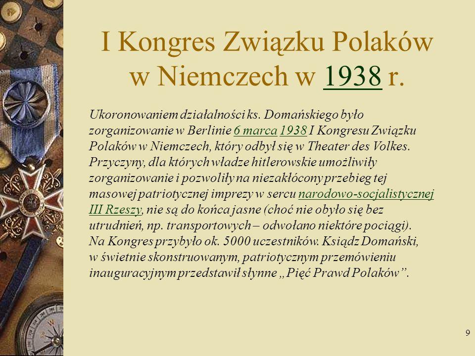 I Kongres Związku Polaków w Niemczech w 1938 r.