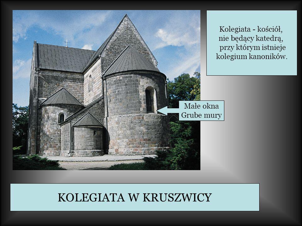 KOLEGIATA W KRUSZWICY Kolegiata - kościół, nie będący katedrą,