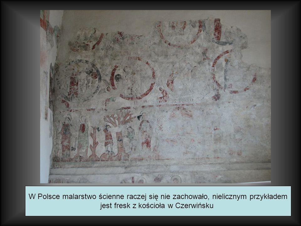 jest fresk z kościoła w Czerwińsku