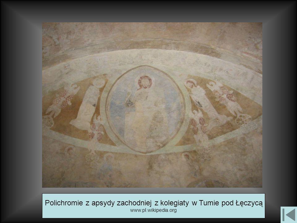 Polichromie z apsydy zachodniej z kolegiaty w Tumie pod Łęczycą