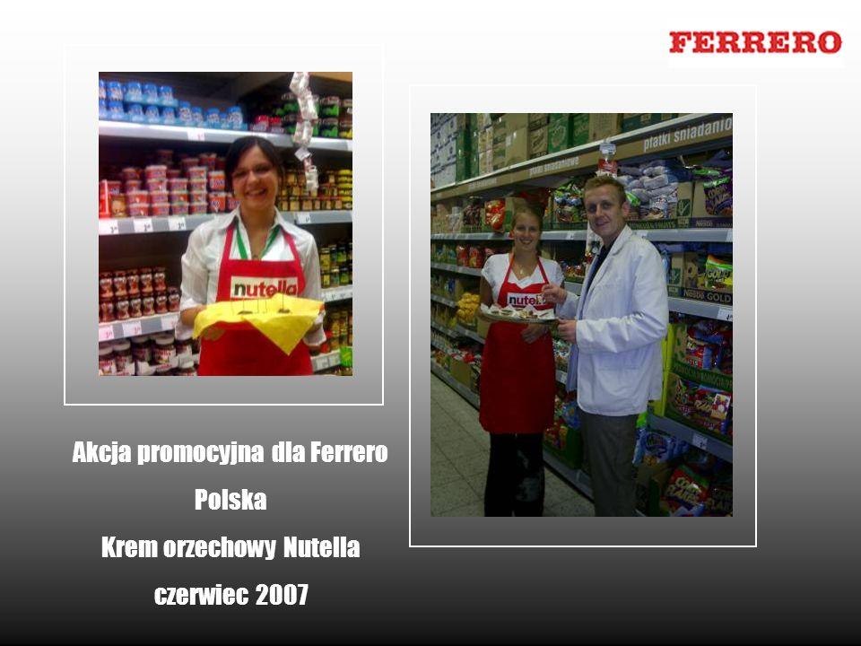 Akcja promocyjna dla Ferrero Polska Krem orzechowy Nutella