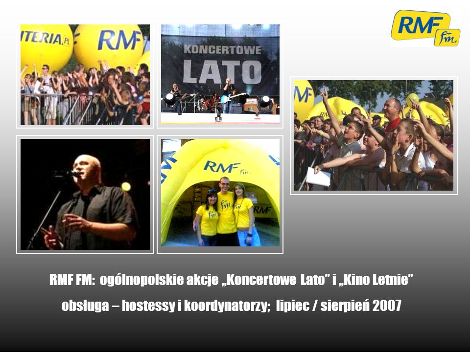 "RMF FM: ogólnopolskie akcje ""Koncertowe Lato i ""Kino Letnie"