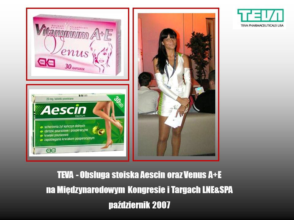 TEVA - Obsługa stoiska Aescin oraz Venus A+E