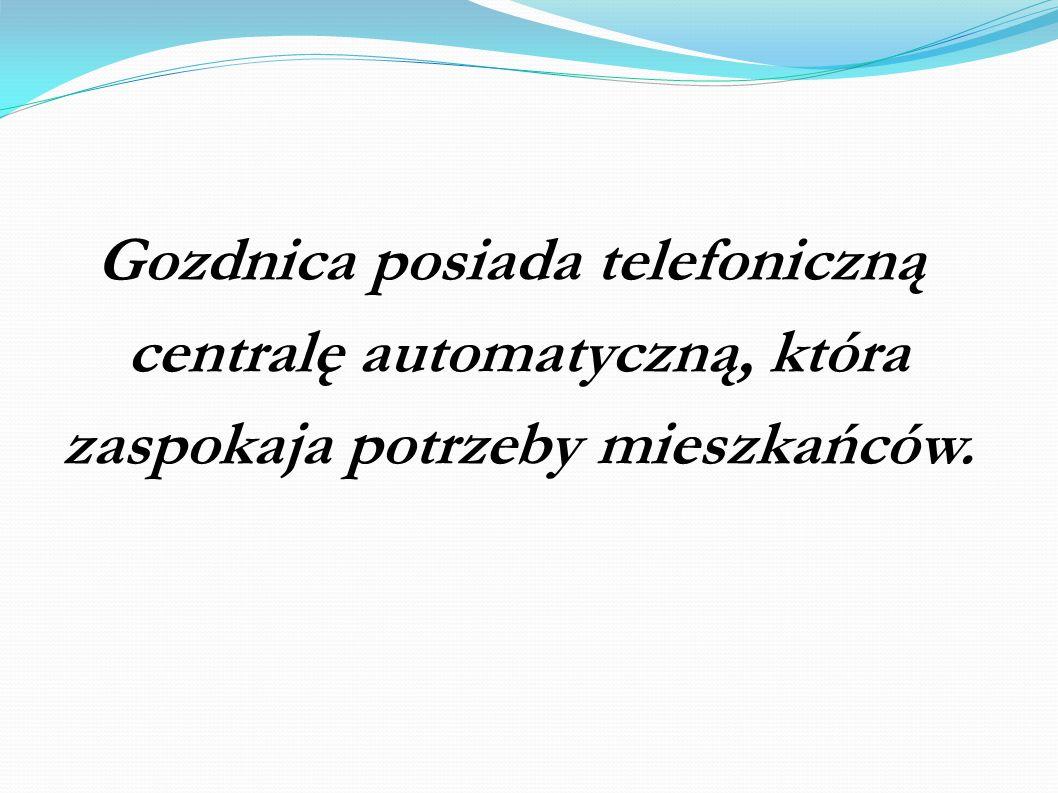 Gozdnica posiada telefoniczną centralę automatyczną, która