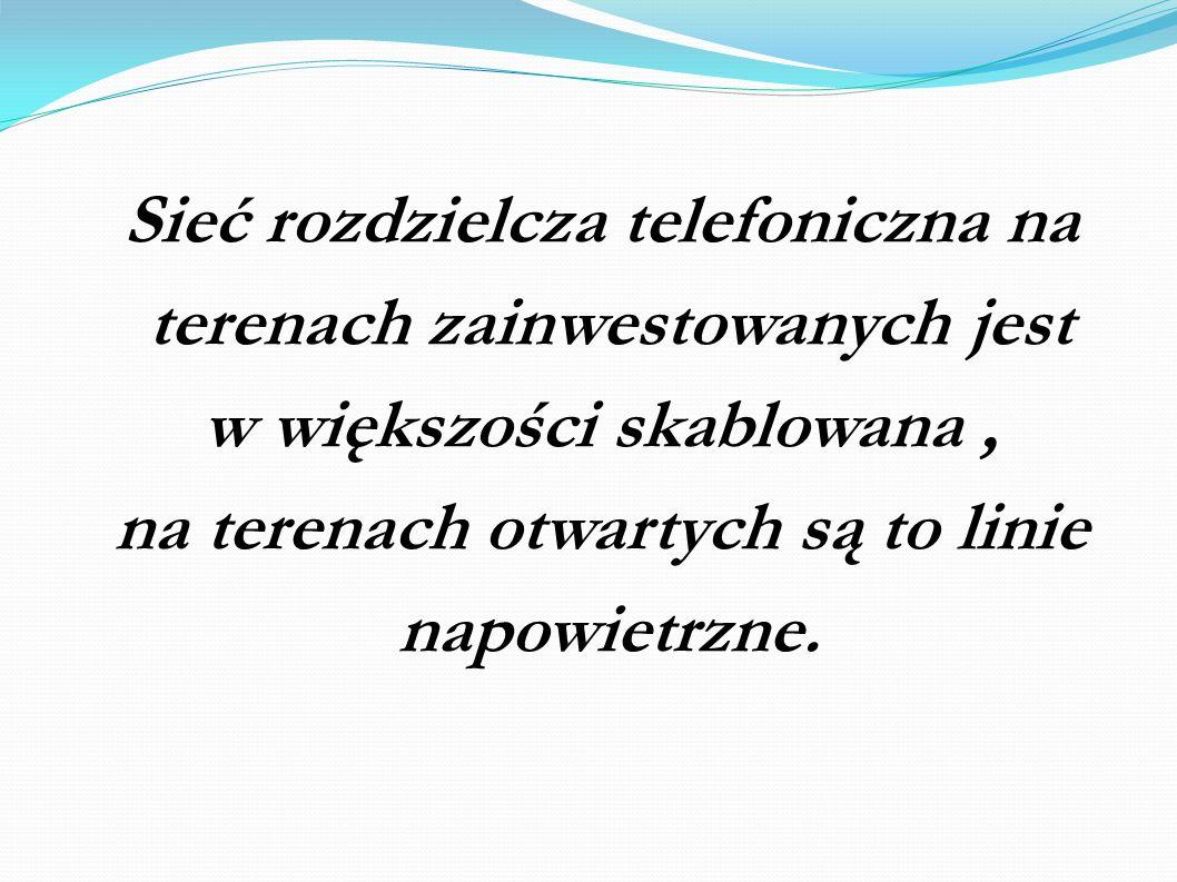 Sieć rozdzielcza telefoniczna na terenach zainwestowanych jest