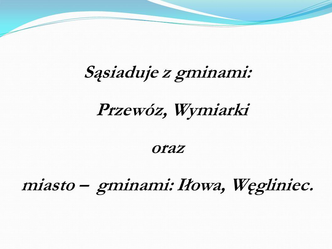 miasto – gminami: Iłowa, Węgliniec.