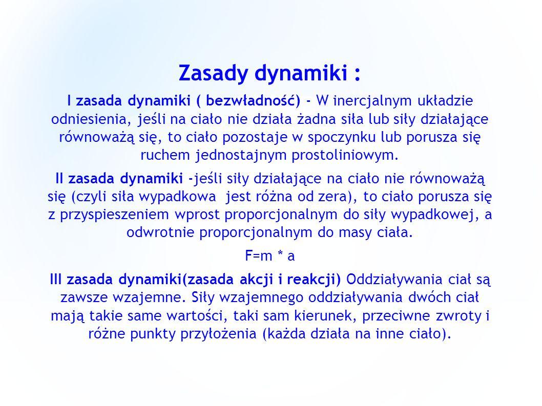 Zasady dynamiki :