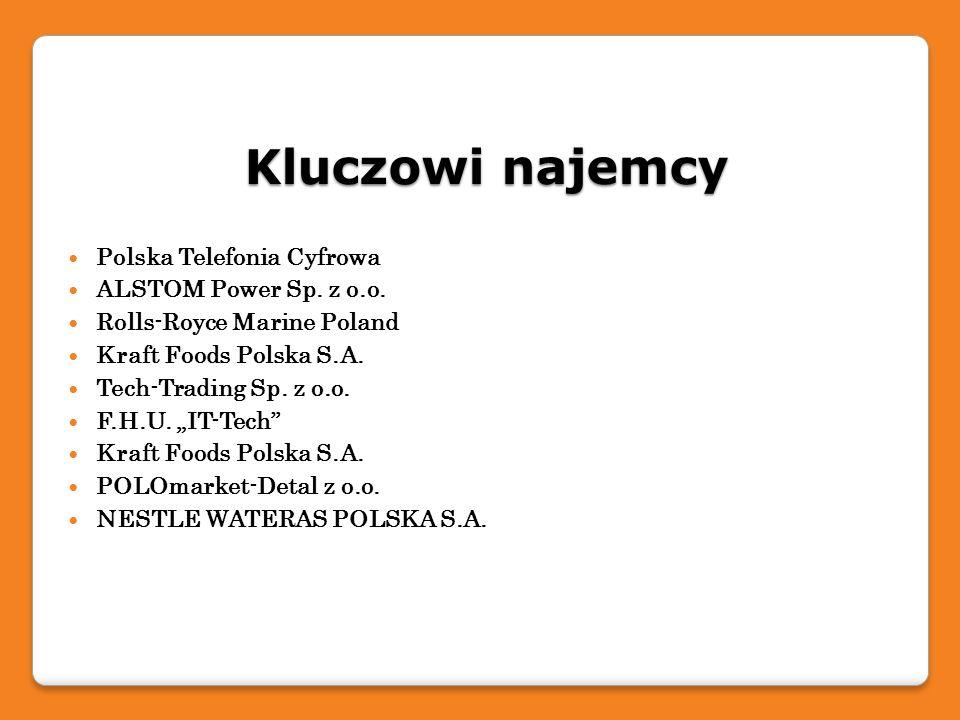 Kluczowi najemcy Polska Telefonia Cyfrowa ALSTOM Power Sp. z o.o.