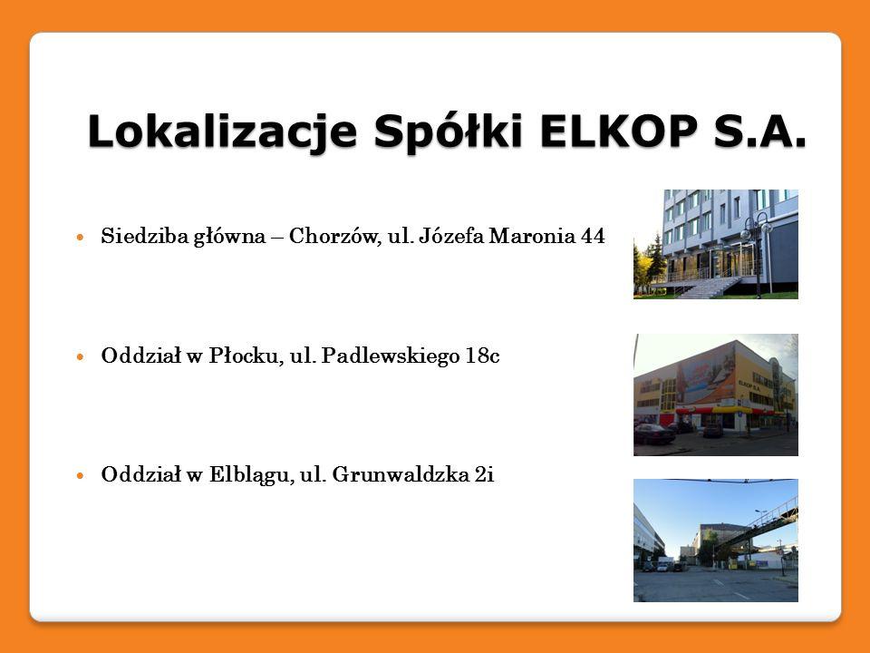 Lokalizacje Spółki ELKOP S.A.