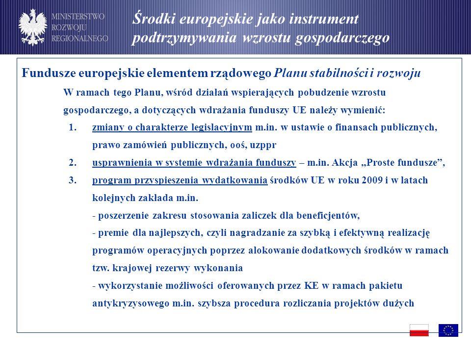 Środki europejskie jako instrument podtrzymywania wzrostu gospodarczego