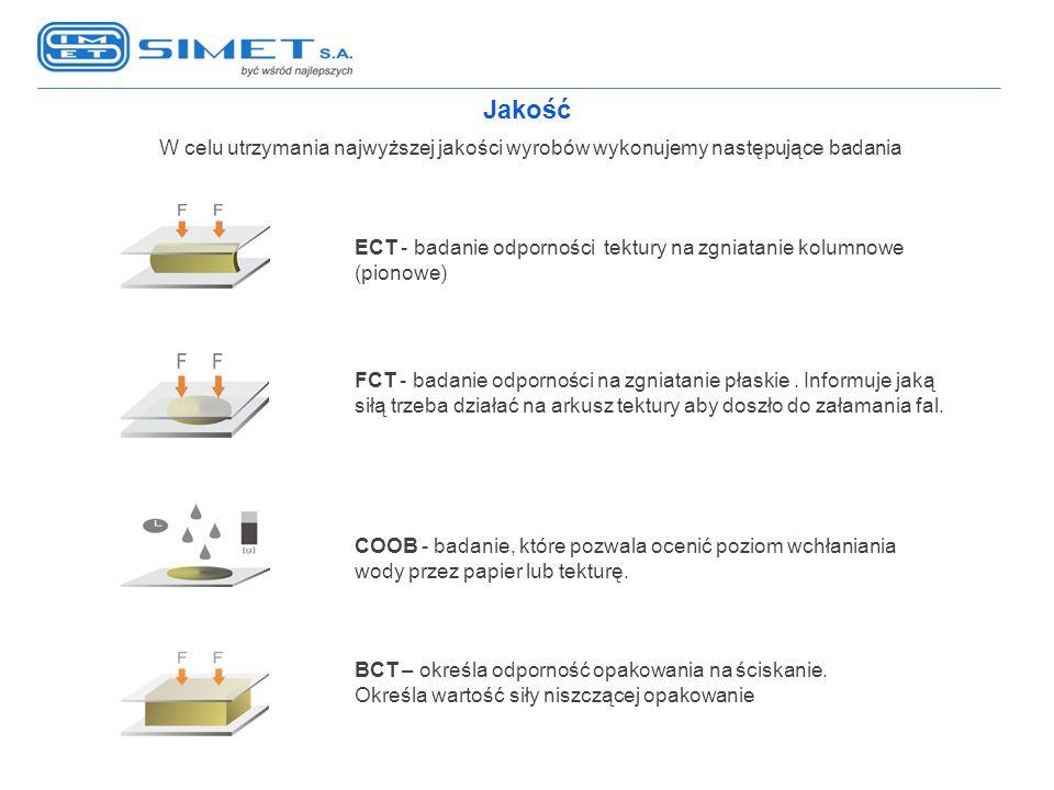Jakość W celu utrzymania najwyższej jakości wyrobów wykonujemy następujące badania.