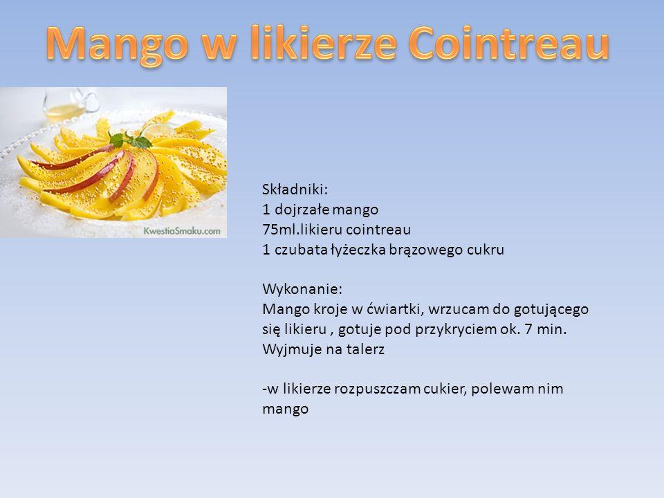 Mango w likierze Cointreau