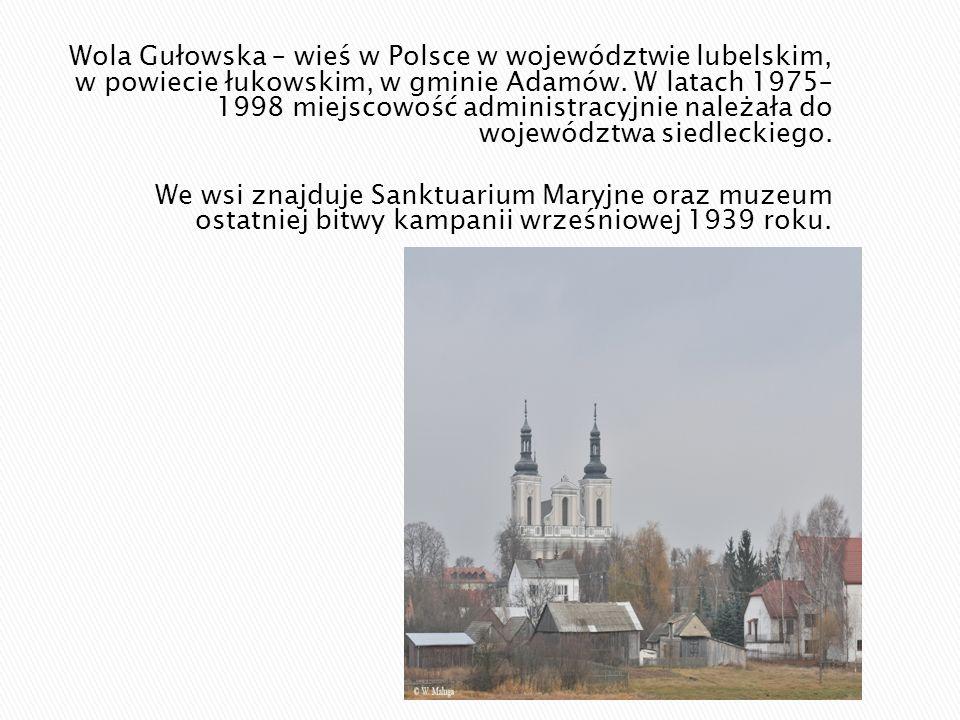 Wola Gułowska – wieś w Polsce w województwie lubelskim, w powiecie łukowskim, w gminie Adamów. W latach 1975– 1998 miejscowość administracyjnie należała do województwa siedleckiego.