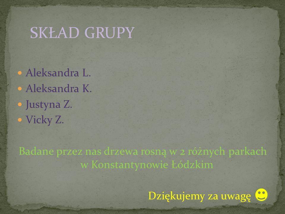Aleksandra L. Aleksandra K. Justyna Z. Vicky Z.