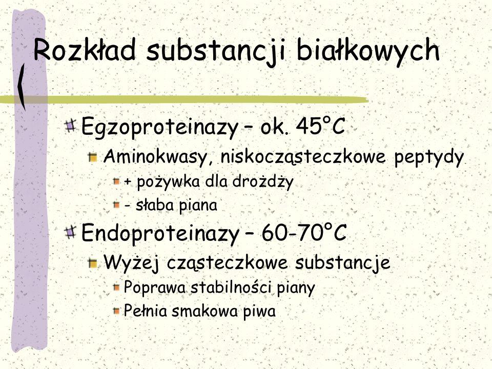 Rozkład substancji białkowych