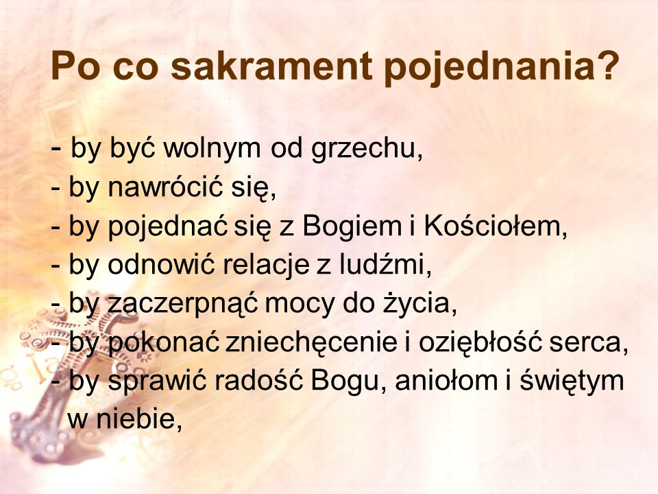 Po co sakrament pojednania