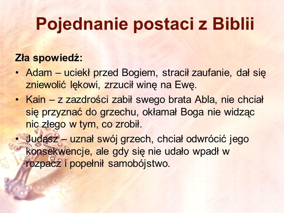 Pojednanie postaci z Biblii