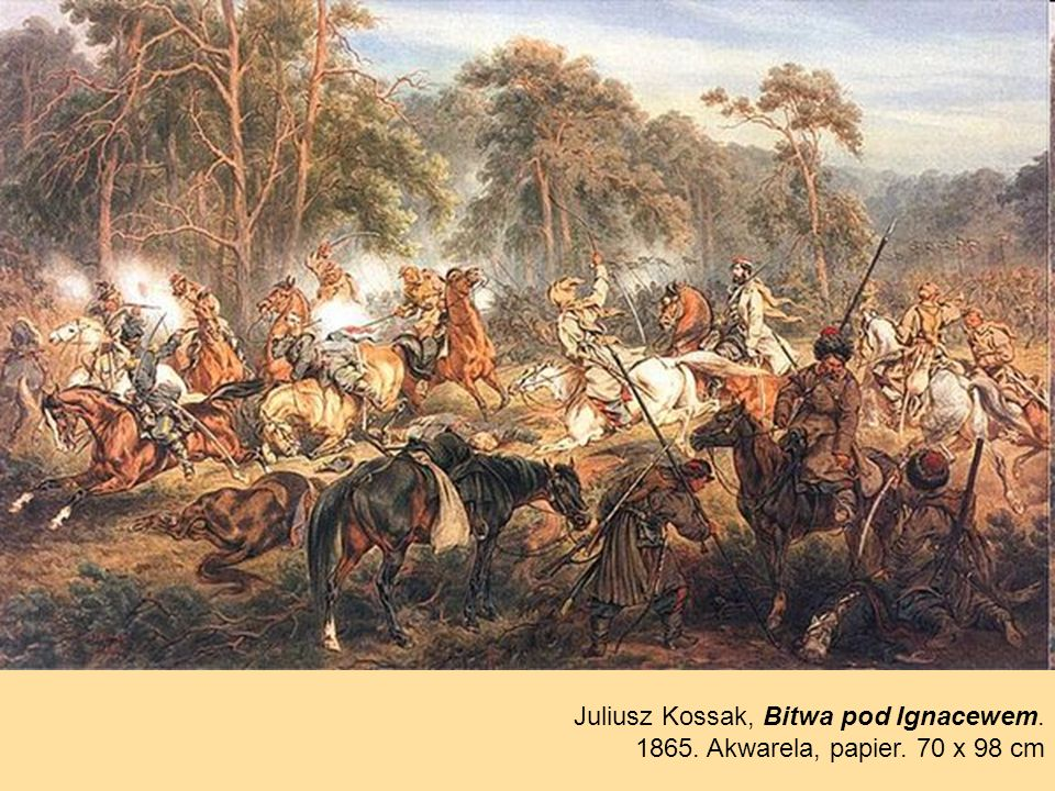 Juliusz Kossak, Bitwa pod Ignacewem.