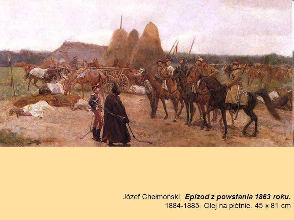 Józef Chełmoński, Epizod z powstania 1863 roku.