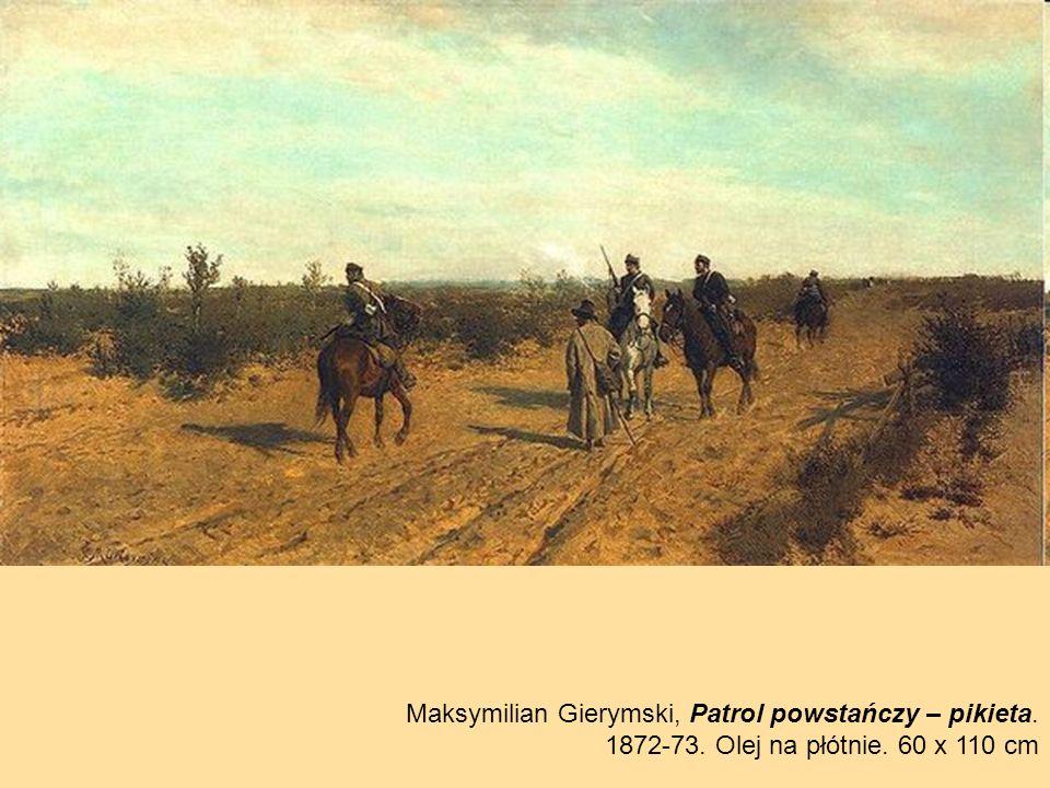Maksymilian Gierymski, Patrol powstańczy – pikieta.