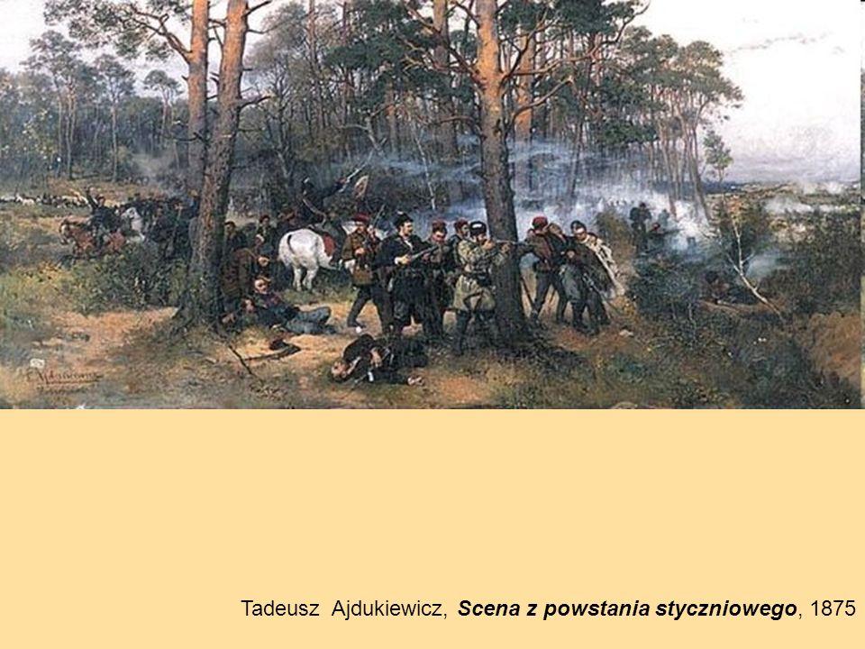 Tadeusz Ajdukiewicz, Scena z powstania styczniowego, 1875