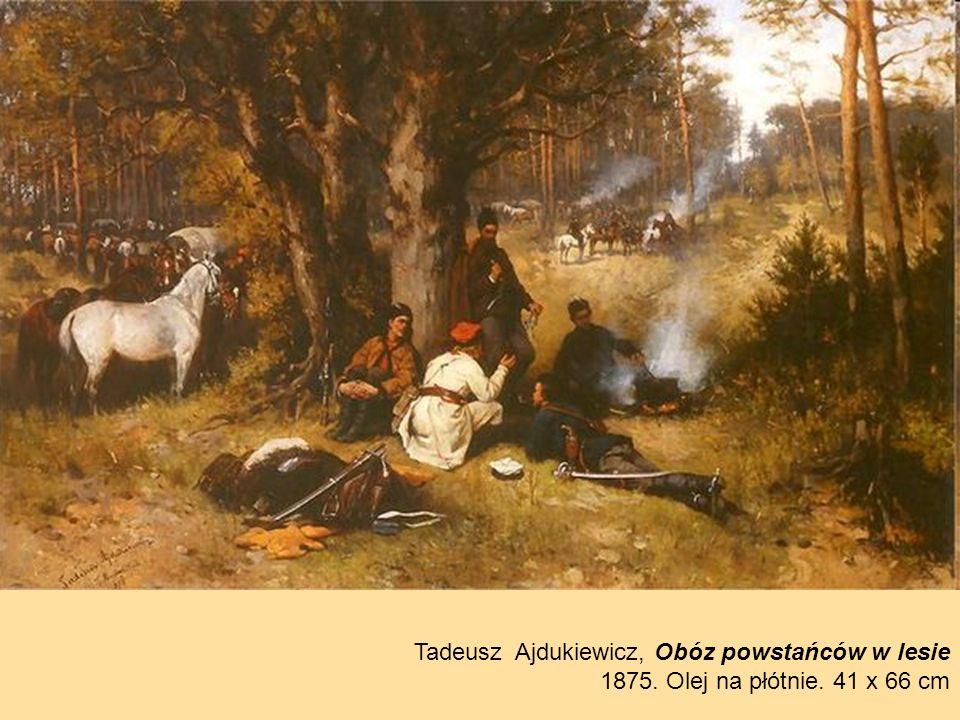 Tadeusz Ajdukiewicz, Obóz powstańców w lesie