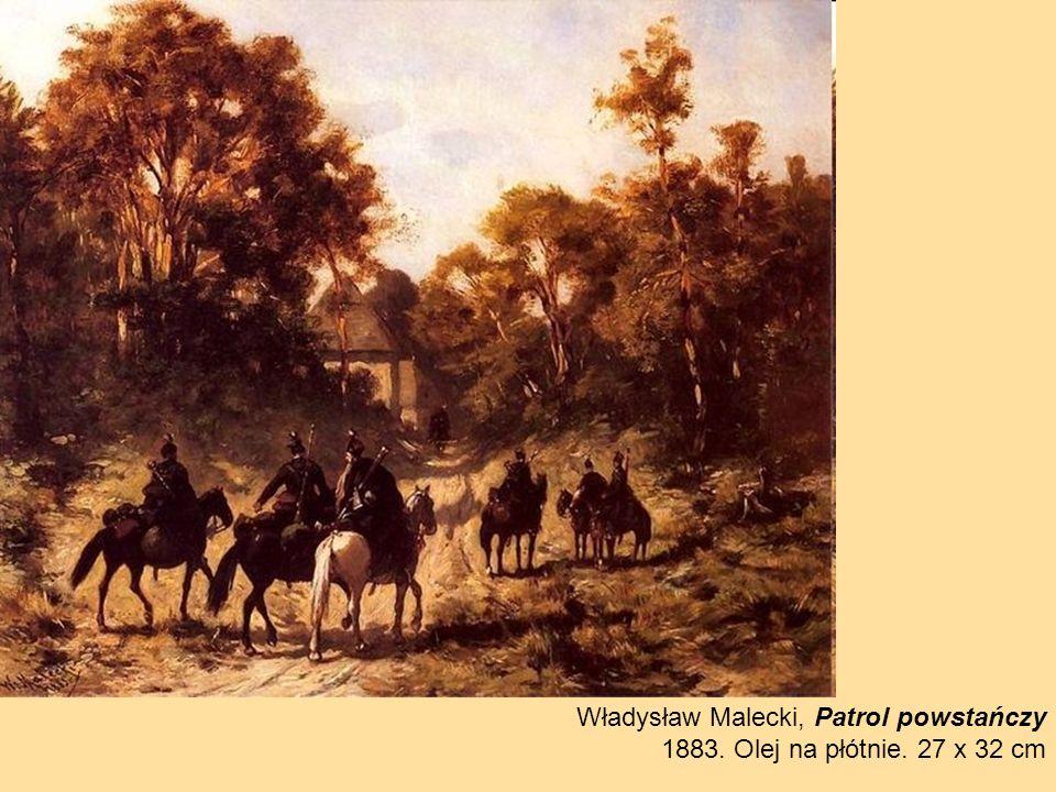 Władysław Malecki, Patrol powstańczy
