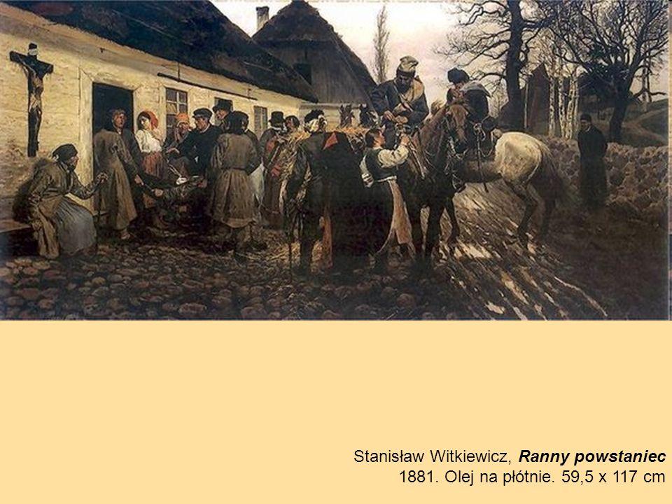 Stanisław Witkiewicz, Ranny powstaniec